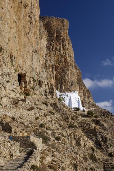 Hozoviotissa Monastery in Amorgos, Greece-Krista Rossow-Photographic Print