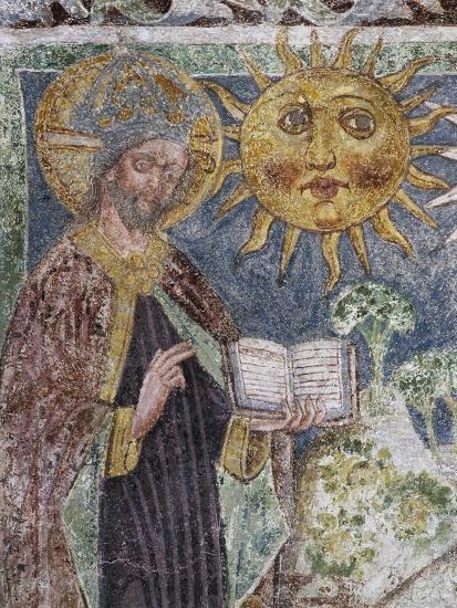 Hrastovlje Fortified Church, Trinity Church, Genesis, God Creates Sun, Moon and Stars--Giclee Print
