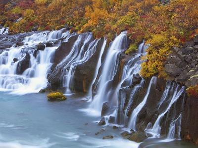 Hraunfossar Waterfall-Frank Krahmer-Photographic Print