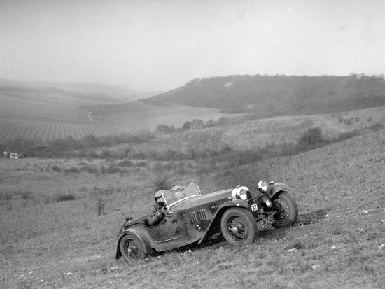 HRG competing in the London Motor Club Coventry Cup Trial, Knatts Hill, Kent, 1938-Bill Brunell-Photographic Print
