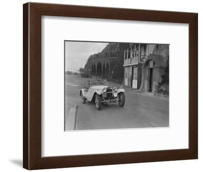 HRG of MH Lawson competing in the RAC Rally, Madeira Drive, Brighton, 1939-Bill Brunell-Framed Photographic Print