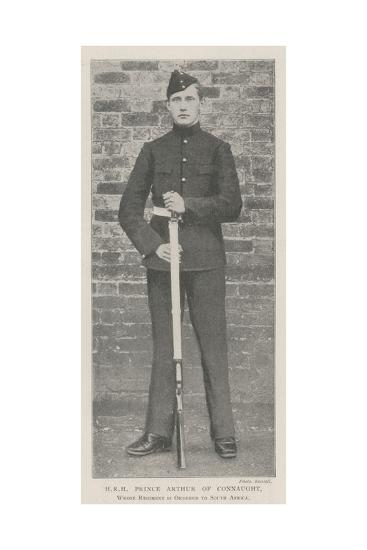 Hrh Prince Arthur of Connaught, Whose Regiment Is Ordered to South Africa--Giclee Print