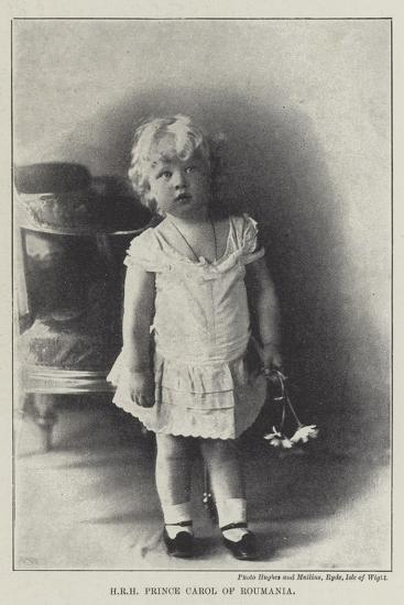 Hrh Prince Carol of Roumania--Giclee Print