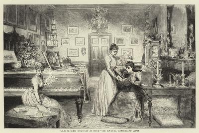 HRH Princess Christian at Home, the Boudoir, Cumberland Lodge--Giclee Print