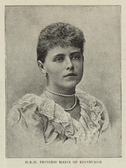 Hrh Princess Marie of Edinburgh--Giclee Print