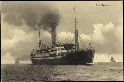 HSDG, Dampfschiff Cap Arcona in Fahrt, Segelboote--Giclee Print