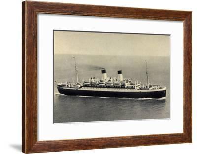 HSDG, Zweischrauben Monte Motorschiff Auf See--Framed Giclee Print