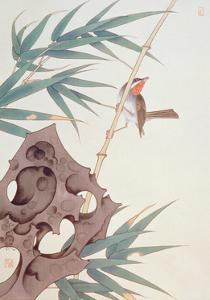 Bamboo and Bird in the Wind by Hsi-Tsun Chang