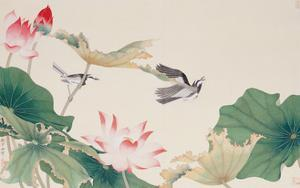 Birds by Lotus Pond by Hsi-Tsun Chang