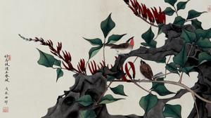 Birds on Coral Trees by Hsi-Tsun Chang