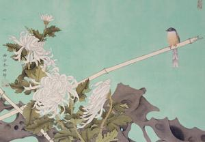 Chrysanthemum and Bird by Hsi-Tsun Chang