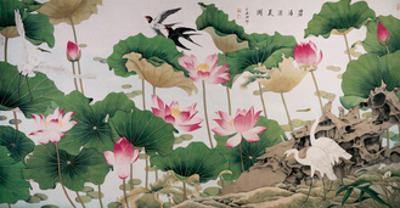 On Lotus Pond by Hsi-Tsun Chang