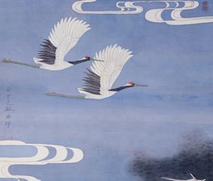 Twin Cranes by Hsi-Tsun Chang