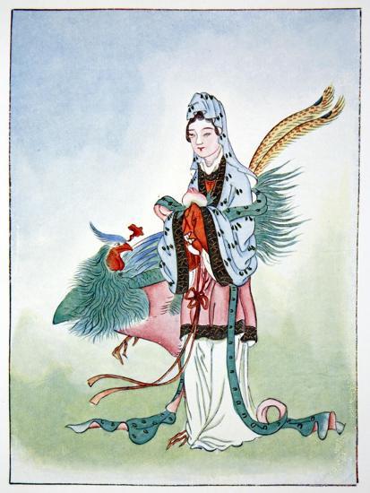 Hsi Wang Mu, ancient Chinese goddess, 1922-Unknown-Giclee Print