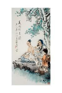 Hua Tuo Practising Acupuncture to Anaesthetise Patient