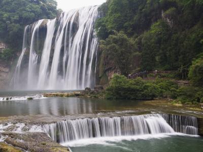 Huangguoshu Waterfall Largest in China 81M Wide and 74M High, Guizhou Province, China-Kober Christian-Photographic Print