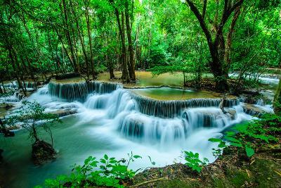 Huay Mae Khamin - Waterfall, Flowing Water, Paradise in Thailand.-ThaiWanderer-Photographic Print
