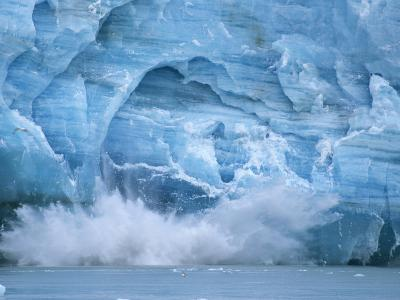 Hubbard Glacier Calving Chunks of Ice into the Water-Michael Melford-Photographic Print