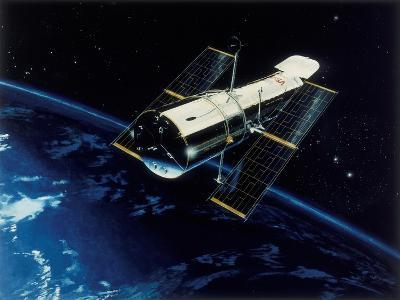 Hubble Space Telescope in Orbit, 1980S--Giclee Print