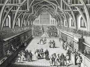 Westminster Hall, the First Day of Term, a Satirical Poem, 1797 Engraved by c.Mosley by Hubert Gravelot