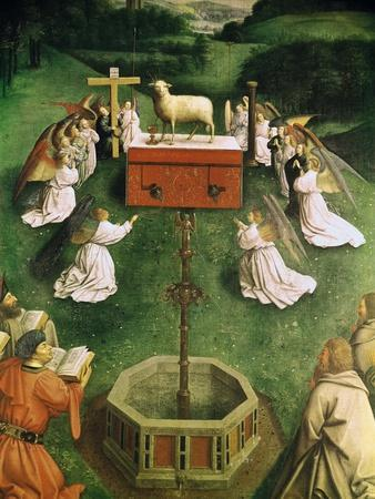 Copy of the Adoration of the Mystic Lamb, from the Ghent Altarpiece, Lower Half of Central Panel