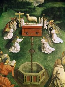 Copy of the Adoration of the Mystic Lamb, from the Ghent Altarpiece, Lower Half of Central Panel by Hubert & Jan Van Eyck