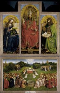The Ghent Altarpiece or Adoration of the Mystic Lamb by Hubert & Jan Van Eyck
