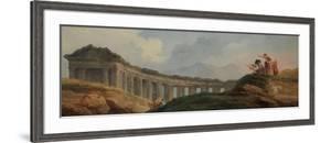 A Colonnade in Ruins by Hubert Robert