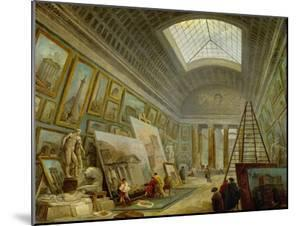 A Museum Gallery of Roman Art by Hubert Robert