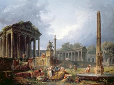 Architectural Capriccio with Obelisk, 1768