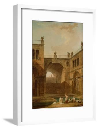 Architectural Scene with Women Washing Clothes at a Pool, 1798