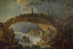 Bridge over the Falls by Hubert Robert