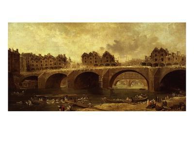 Démolition Des Maison Du Pont Notre-Dame, En 1786