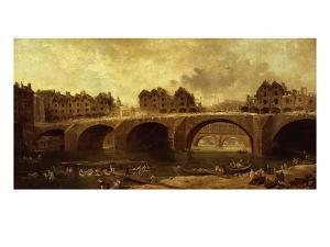 Démolition Des Maison Du Pont Notre-Dame, En 1786 by Hubert Robert