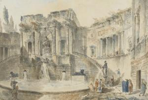 Fontaine monumentale by Hubert Robert