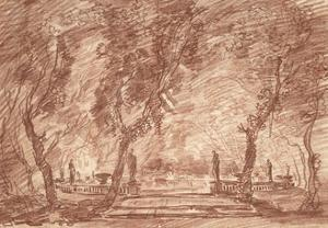 Fountain in the Park, c.1765 by Hubert Robert