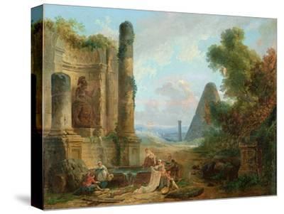 Fountain of Minerva, Rome, 1772