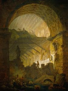 Gallery in Ruins, 1798 by Hubert Robert