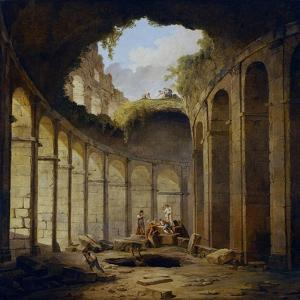 Hubert Robert / The Colosseum, Rome, 1780-1790 by Hubert Robert