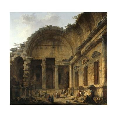 Interior of the Temple of Diana at Nimes. 1786