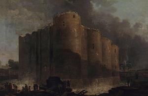 La Bastille, dans les premiers jours de sa démolition by Hubert Robert