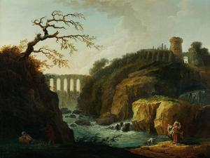 Landscape with Aqueduct and Torrent by Hubert Robert