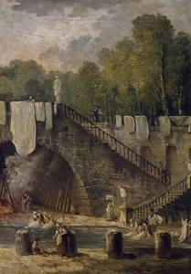 Le lavoir by Hubert Robert