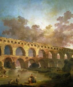 Le Pont Du Gard, 1787 by Hubert Robert