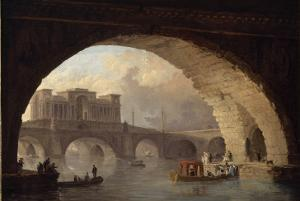 Le pont triomphal by Hubert Robert