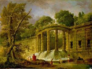 Pavilion with Cascade, 1760 by Hubert Robert