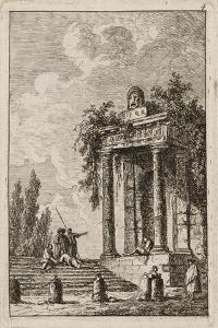 Plate Four from Evenings in Rome, 1763-64 by Hubert Robert