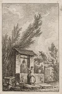 Plate Seven from Evenings in Rome, 1763-64 by Hubert Robert