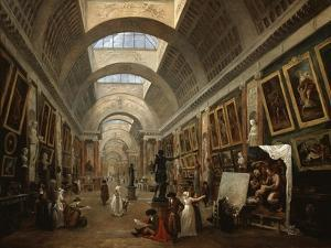 Project For the Disposition of the Grand Gallery, c.1796 by Hubert Robert