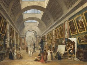 Projet d'aménagement de la Grande Galerie du Louvre en 1796 by Hubert Robert